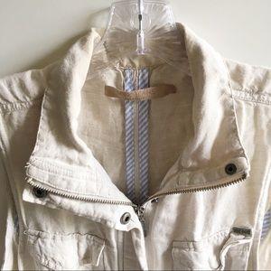Max Jeans Jackets & Coats - Max Jeans utility vest ivory pockets drawstring